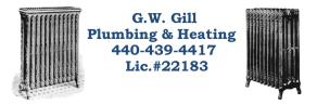 G.W. Gill Plumbing and Heating, License #22183 80 W. Grace St. Bedford, OH 44146 - Phone: (440) 439-4417