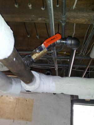 Then the piping was installed.