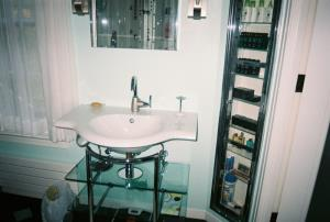 Front view of sink.