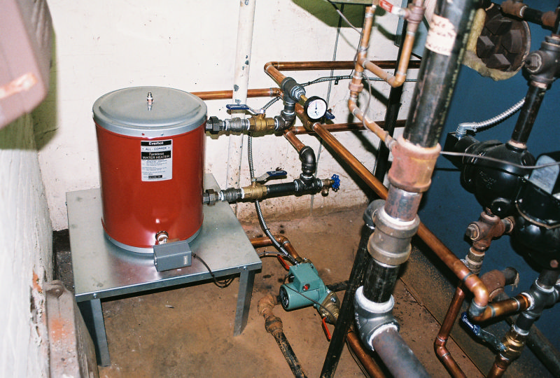 Hot Water System off a Steam Boiler