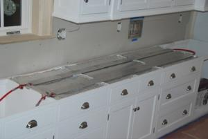 Other side of sink cabinets.